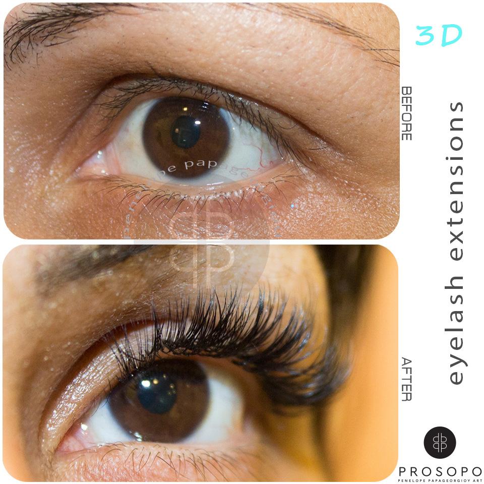 Eyelashe Extensions Βλεφαρίδων τρίχα-τρίχα , 3D & LUXURY VOLUME Βλεφαρίδων